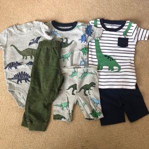 Dinosaur pajama bundle - 3 pairs!